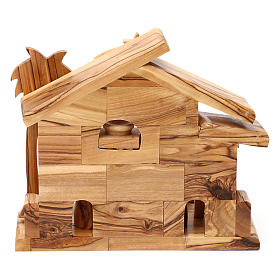 Nativity scene with cave in Bethlehem olive wood 20x20x10 cm s5