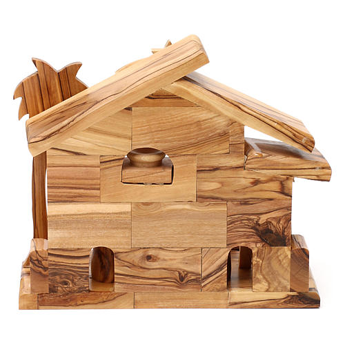 Nativity scene with cave in Bethlehem olive wood 20x20x10 cm 5