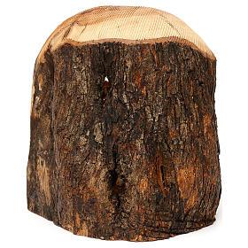 Cabaña con Natividad 3 piezas de madera de olivo Belén 25x20x15 cm s6
