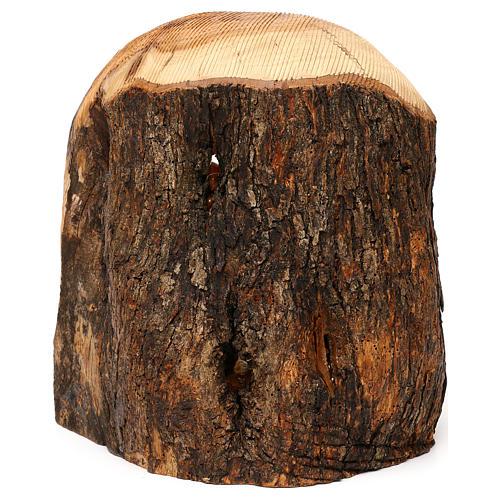 Cabaña con Natividad 3 piezas de madera de olivo Belén 25x20x15 cm 6