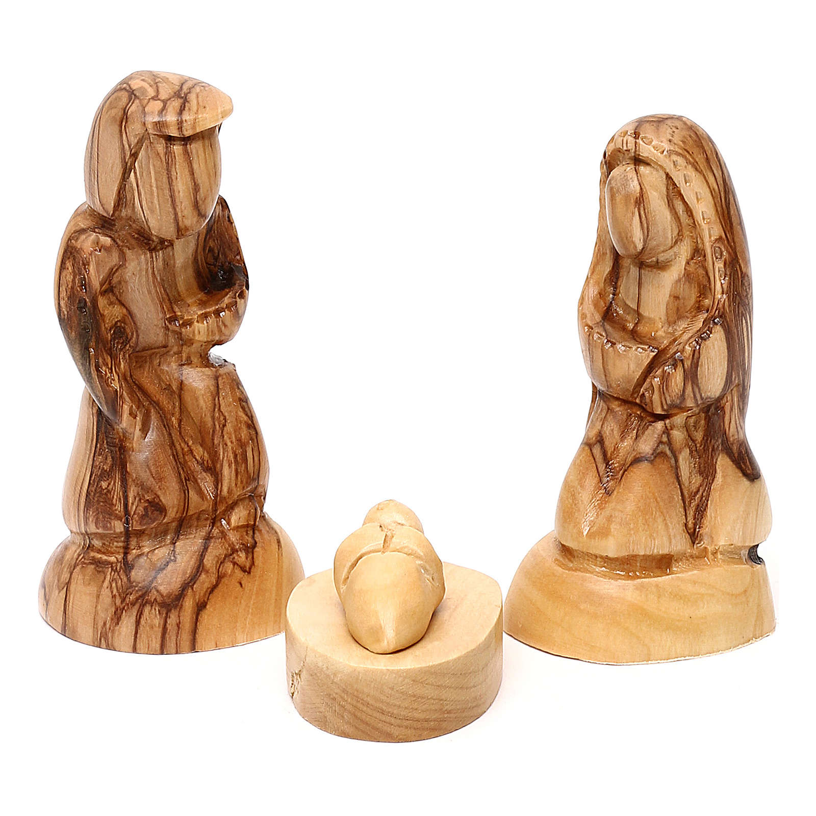 Nativity scene with cave in Bethlehem olive wood 20x30x20 cm 4