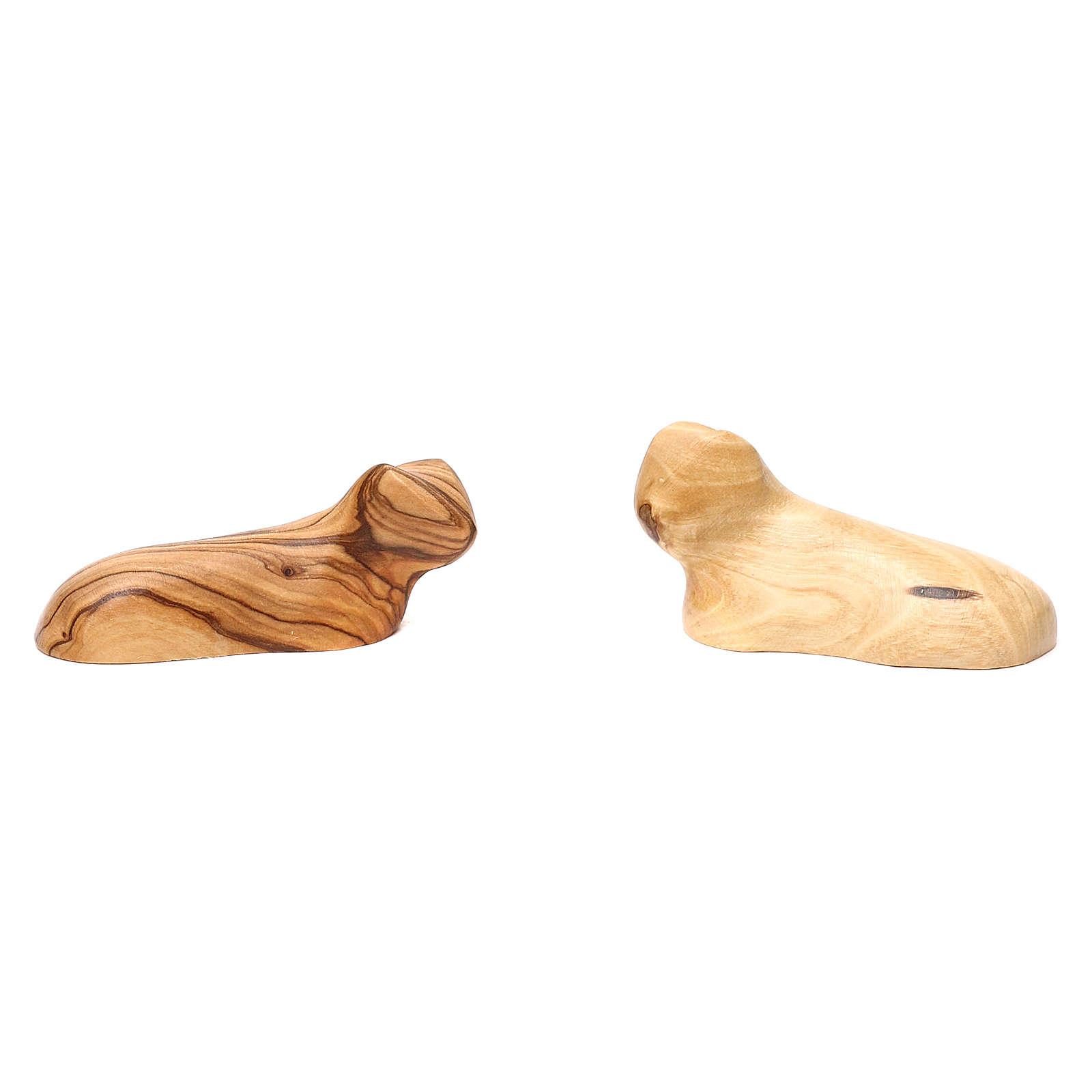 Capanna con presepe in ulivo di Betlemme 20x30x20 cm 4