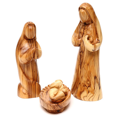 Nativity Scene in olive wood from Bethlehem 12 figurines 2