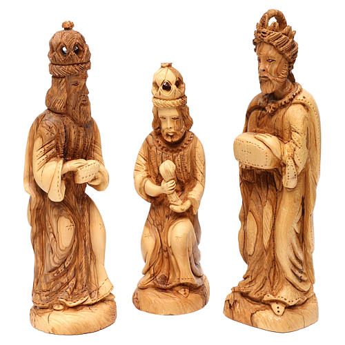 Nativity set 14 pcs in Bethlehem olive wood form 3