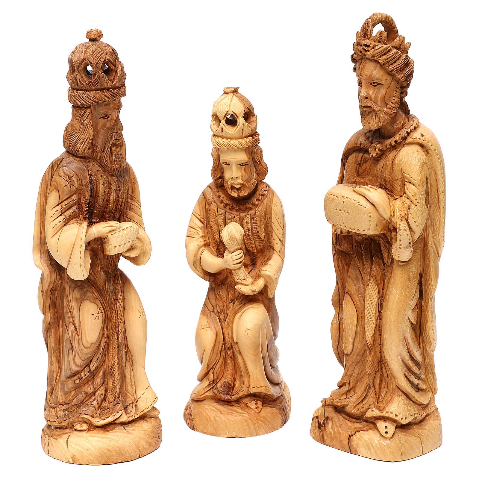 Presépio Completo 14 figuras madeira de oliveira Belém altura média 35 cm 4