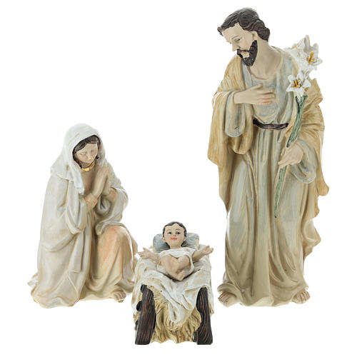 Complete Nativity scene consisting of 9 pieces 20.5 cm resin 2