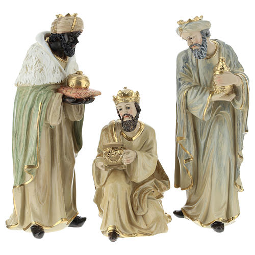 Complete Nativity scene consisting of 9 pieces 20.5 cm resin 6