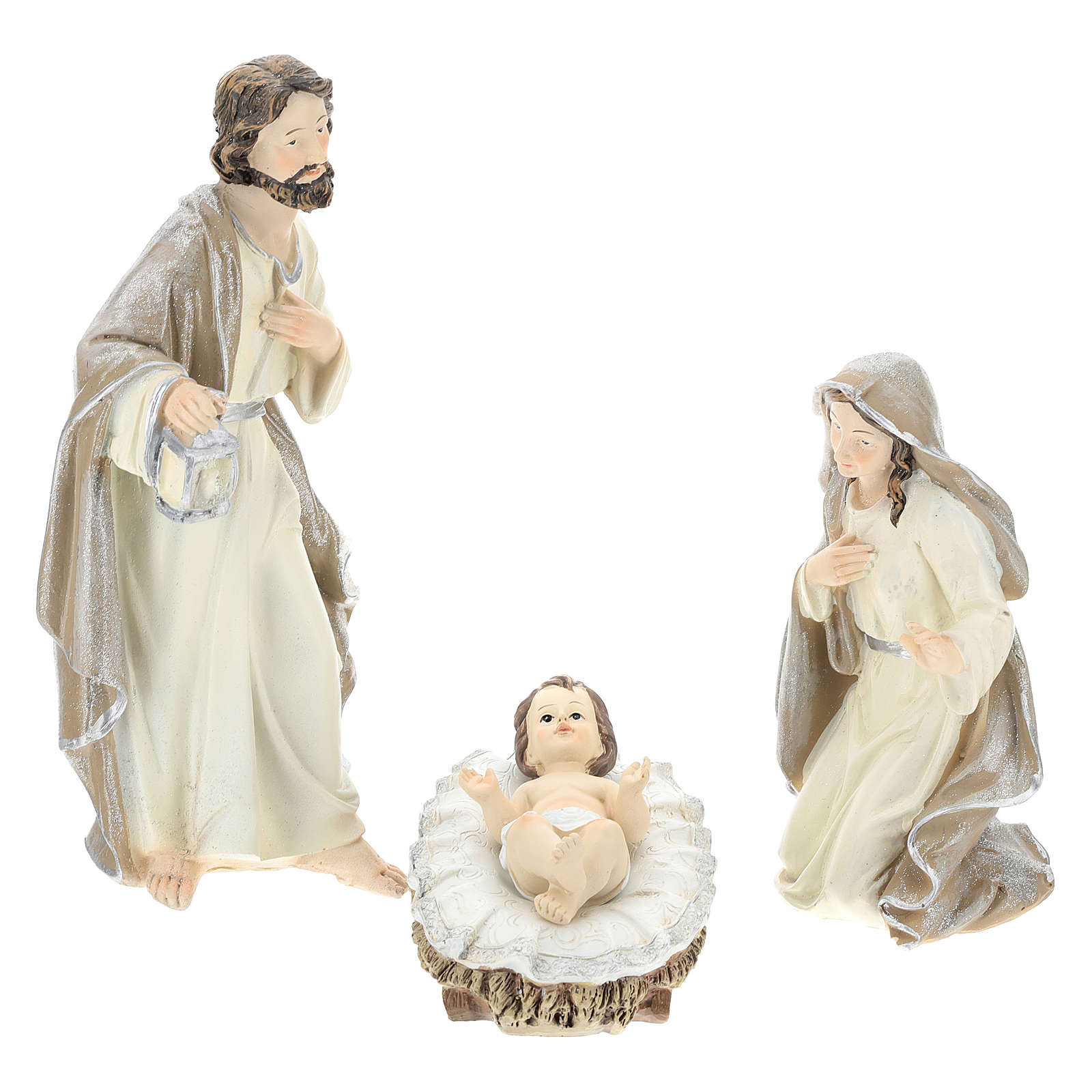 Nativity scene set 25 cm in resin, 9 pcs 4