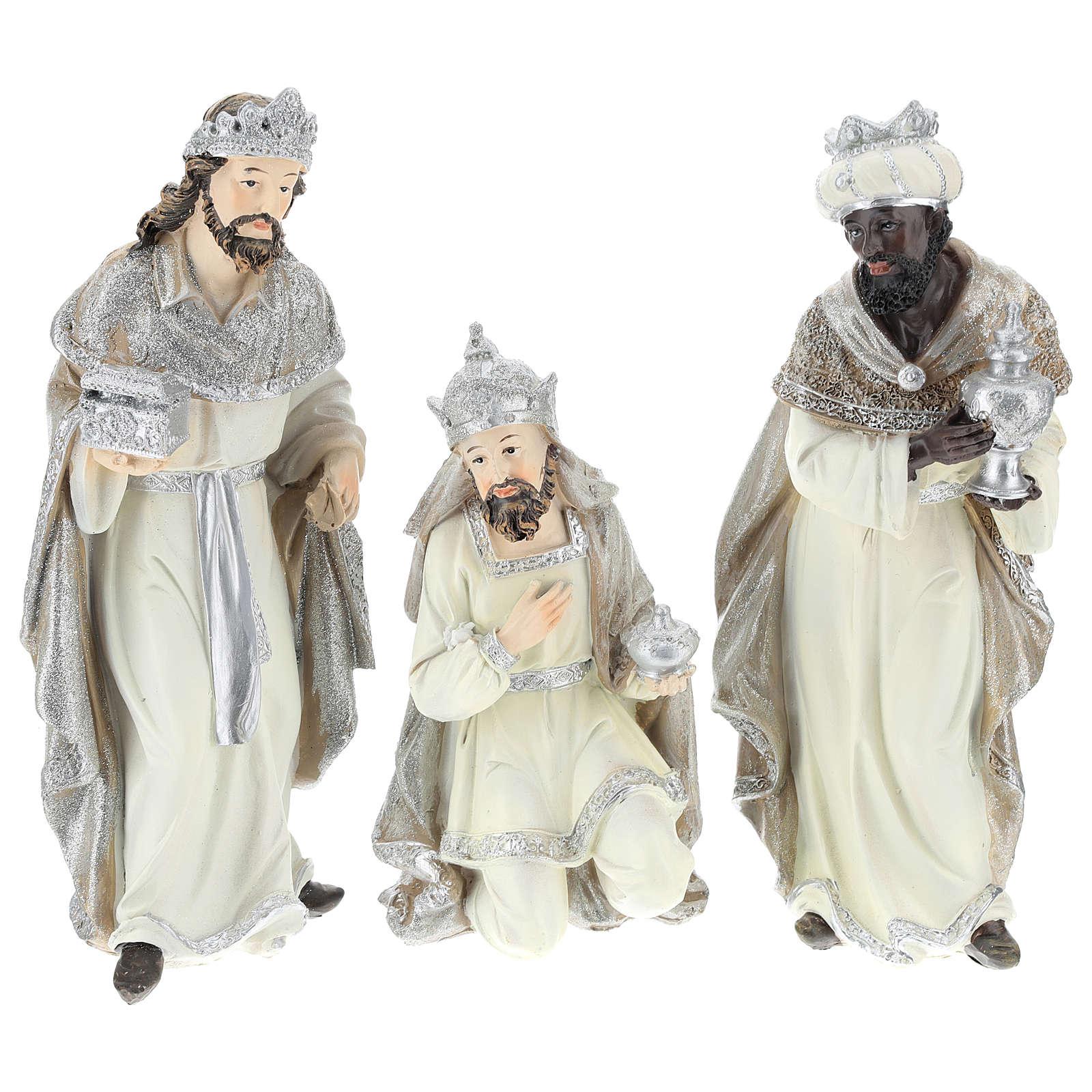 Nativity scene set 25 cm in resin, 9 pcs 4