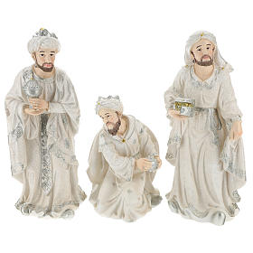 Nativity scene set 44 cm in resin, 9 pcs s6