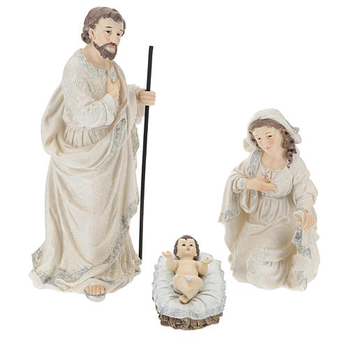 Nativity scene set 44 cm in resin, 9 pcs 2