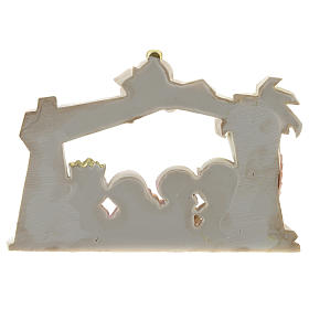Nativity scene with star and roof 10 characters, children's line 20x15 cm s4