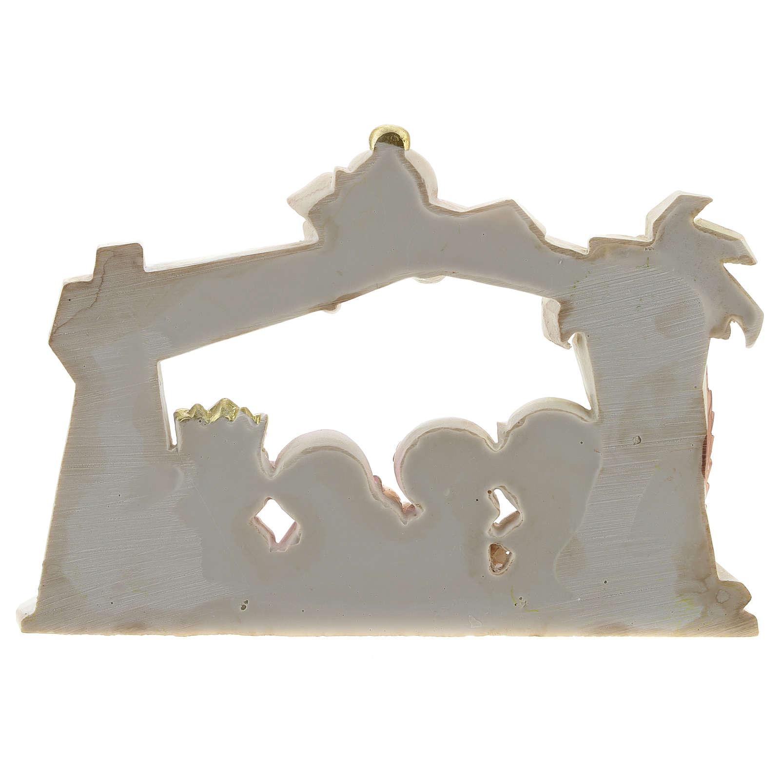 Cabaña belén resina 10 personajes 20x15 cm línea niños 4