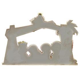 Capanna presepe resina 10 personaggi 20x15 cm linea bambini s4