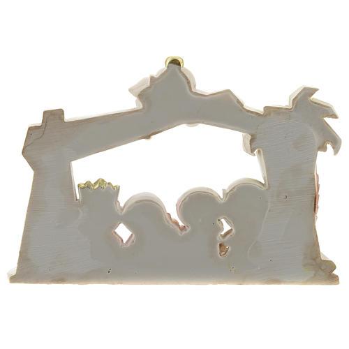 Capanna presepe resina 10 personaggi 20x15 cm linea bambini 4