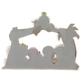 Belén resina cabaña 10 personajes 16x12 cm línea niños s4