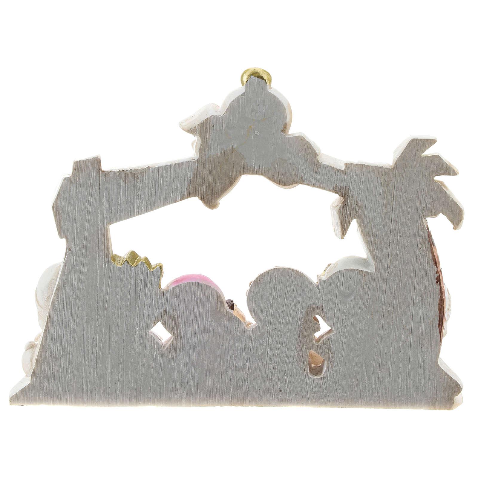 Presepe resina capanna 10 personaggi 16x12 cm linea bambini 4