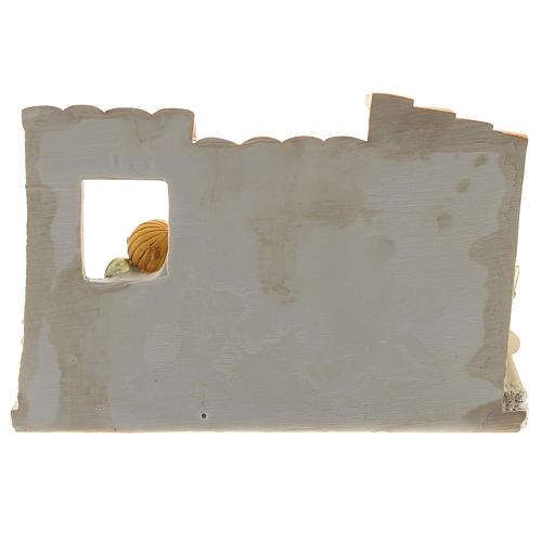Crèche avec cabane résine 10 santons 10x15 cm gamme enfants 4