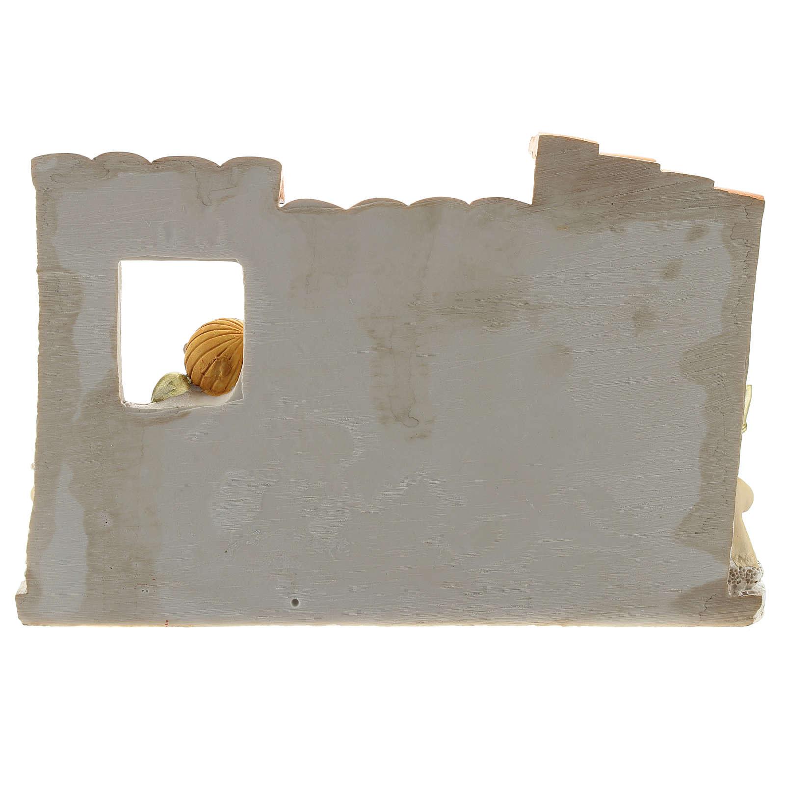Presepe casolare resina 10 personaggi 10x15 cm linea bambini 4