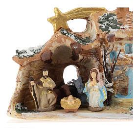 Nativity scene with shack and star in Deruta terracotta s2