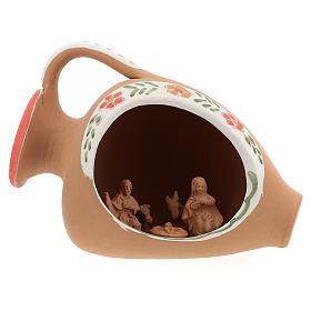 Nativity in terracotta amphora 10x15x10 cm s1