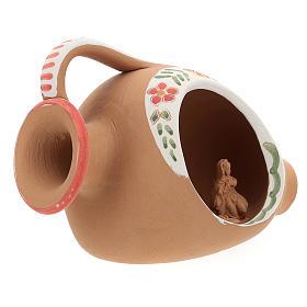 Nativity in terracotta amphora 10x15x10 cm s4