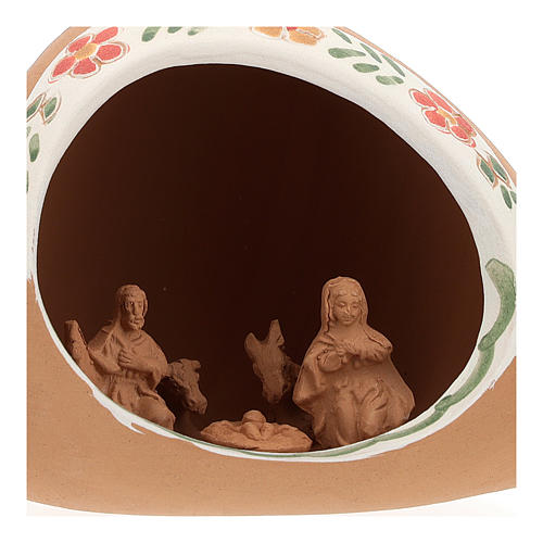 Nativity in terracotta amphora 10x15x10 cm 2