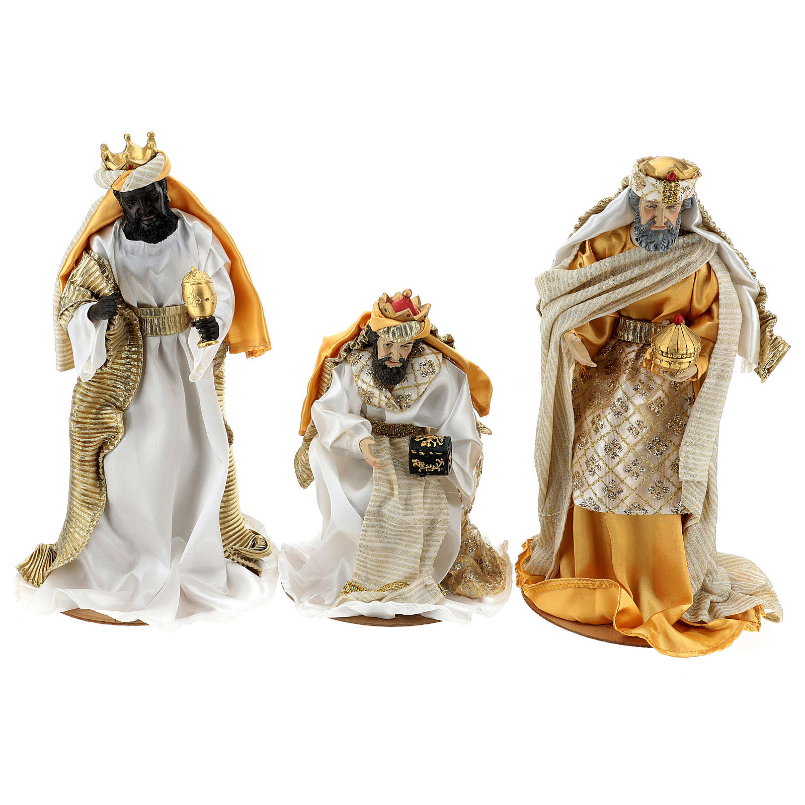 Complete Nativity scene set in painted resin, 10 characters, 40 cm 4