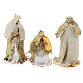 Complete Nativity scene set in painted resin, 10 characters, 40 cm s8