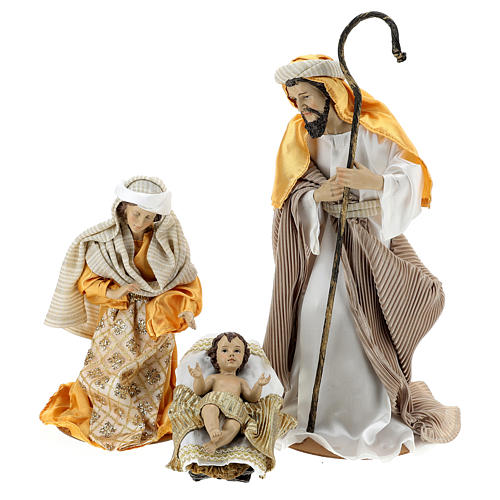 Complete Nativity scene set in painted resin, 10 characters, 40 cm 2