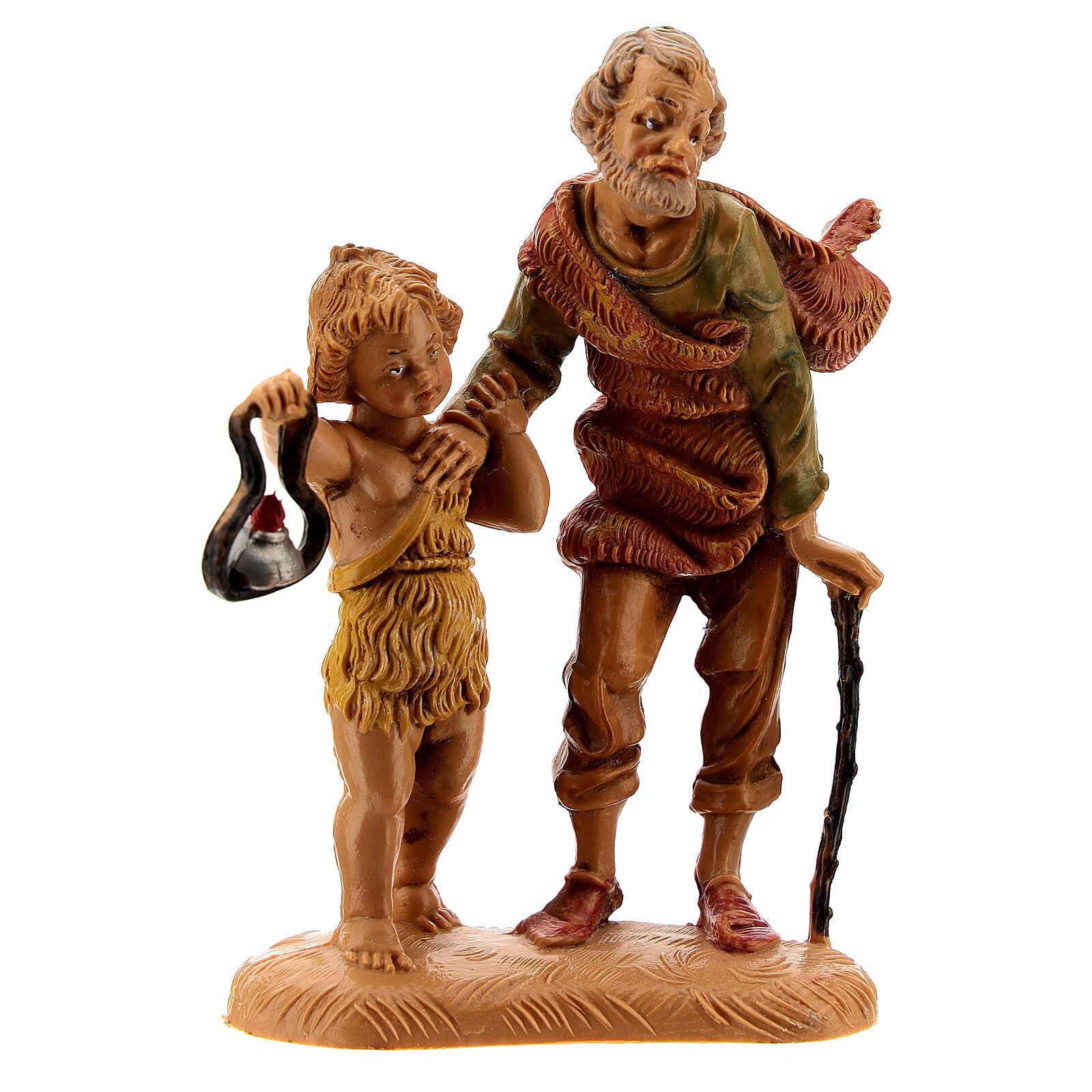 Pastor con niño y linterna 10 cm Fontanini 4
