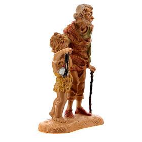Pastor con niño y linterna 10 cm Fontanini s3