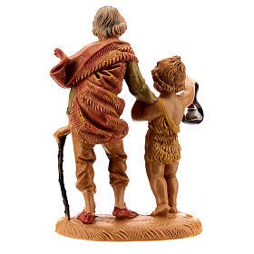 Pastor con niño y linterna 10 cm Fontanini s4