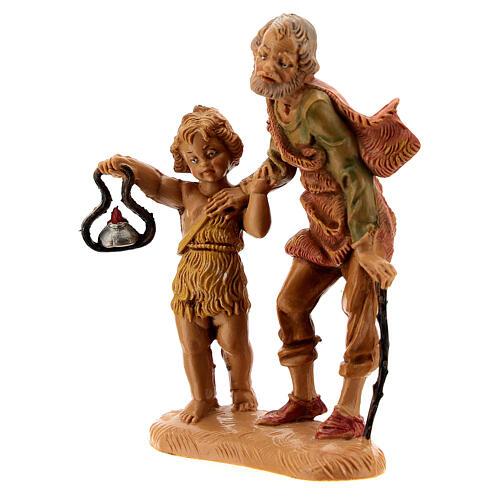 Pastor con niño y linterna 10 cm Fontanini 2