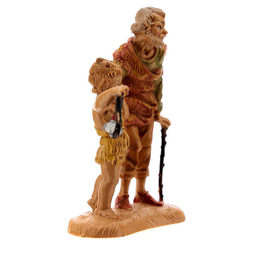 Pastor con niño y linterna 10 cm Fontanini 3
