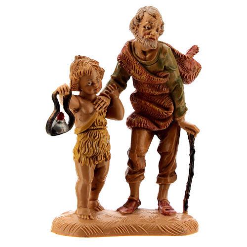 Pastore con bambino e lanterna 10 cm Fontanini 1