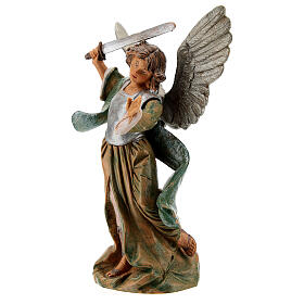 Saint Michael the Archangel resin statue, 15 cm Fontanini s2