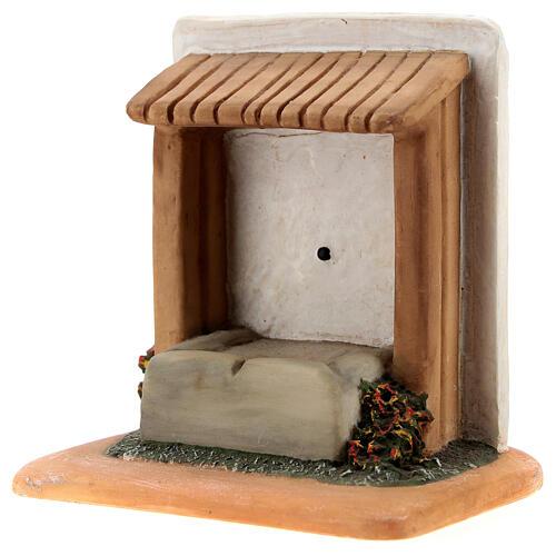 STOCK Abbeveratoio con tetto resina presepe 7 cm Fontanini 2