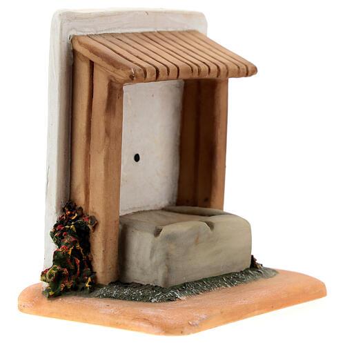 STOCK Abbeveratoio con tetto resina presepe 7 cm Fontanini 3