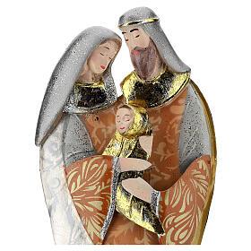 Sacra Famiglia abbraccio statua metallo h 36 cm s2