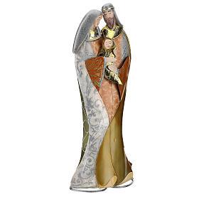 Sacra Famiglia abbraccio statua metallo h 36 cm s4