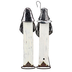 Sagrada Família estilizada conjunto duas figuras de metal, altura 63 cm s8