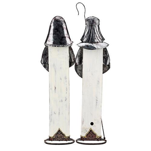 Sagrada Família estilizada conjunto duas figuras de metal, altura 63 cm 8