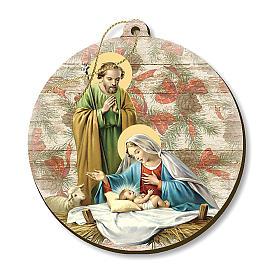 Adornos de madera y pvc para Árbol de Navidad: Decoración Navideña madera moldeada escena Belén
