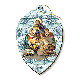 Christmas decoration in wood, Nativity with shepherds s1