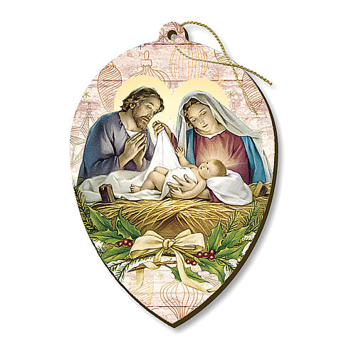 Christmas decoration in wood, Nativity scene 1