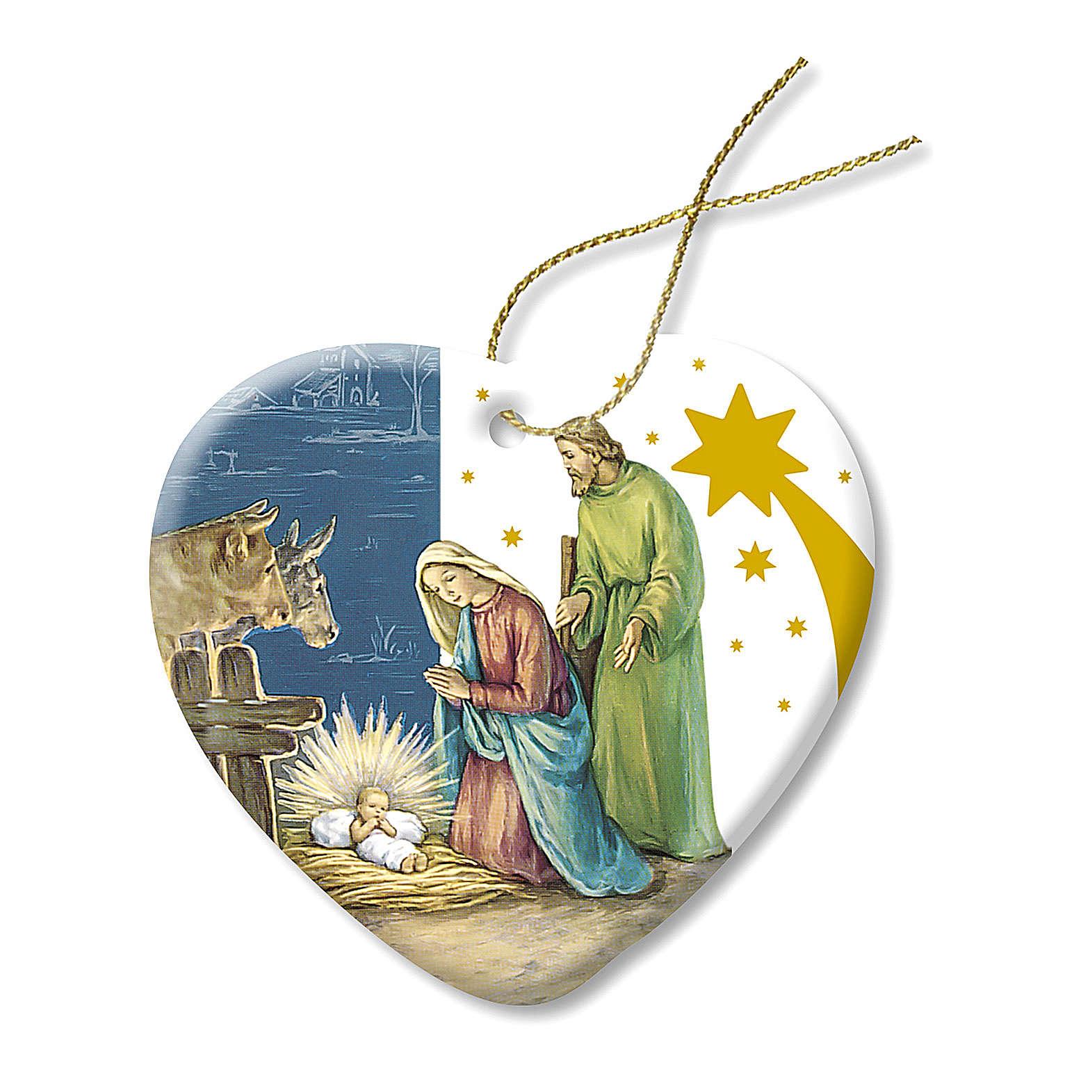 Addobbo di Natale in Ceramica Presepe Sacra Famiglia 4