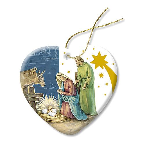 Addobbo di Natale in Ceramica Presepe Sacra Famiglia 1