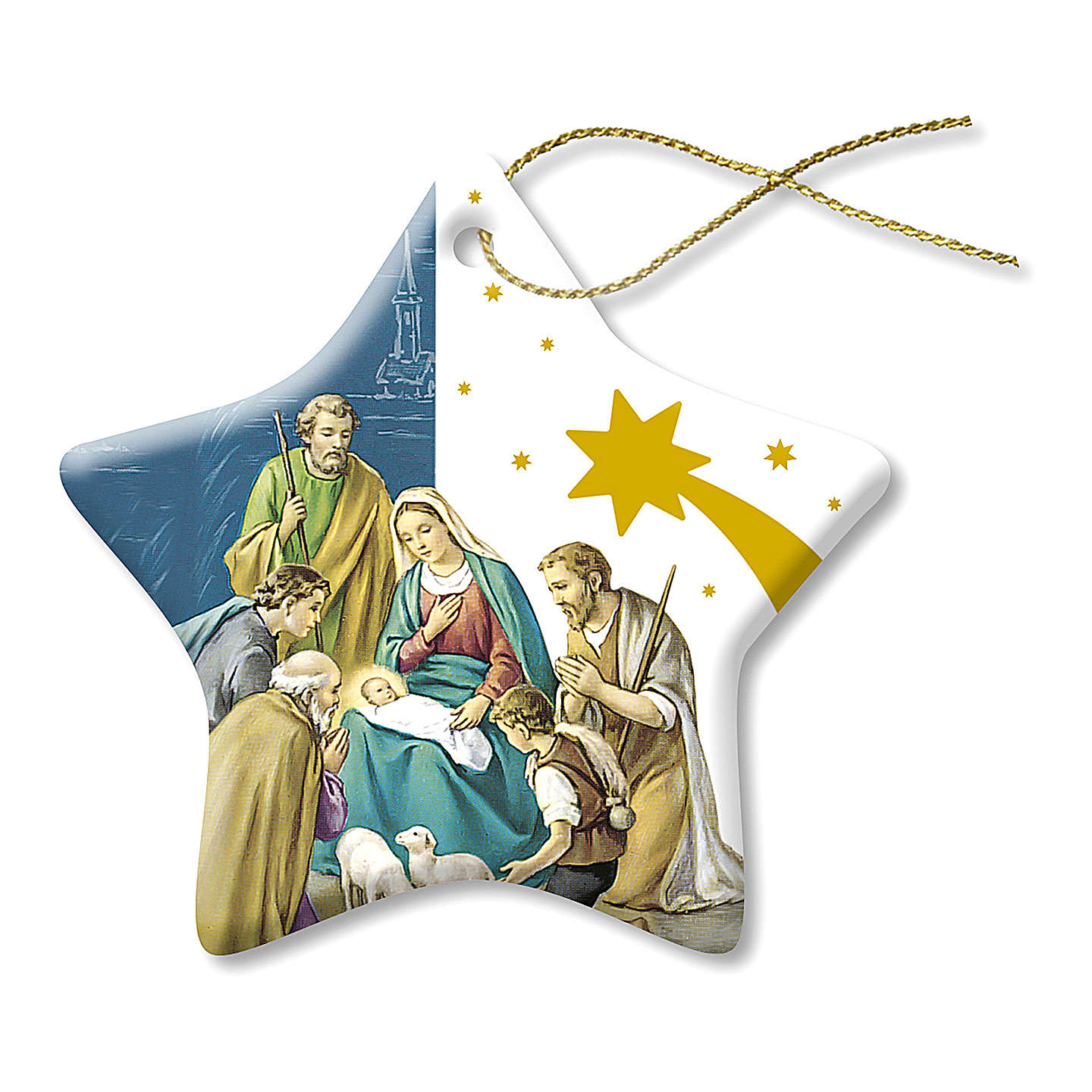 Christmas decoration in ceramic with Nativity 4