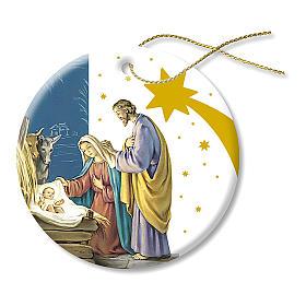 Adornos de madera y pvc para Árbol de Navidad: Decoración Navideña de Cerámica imagen Belén